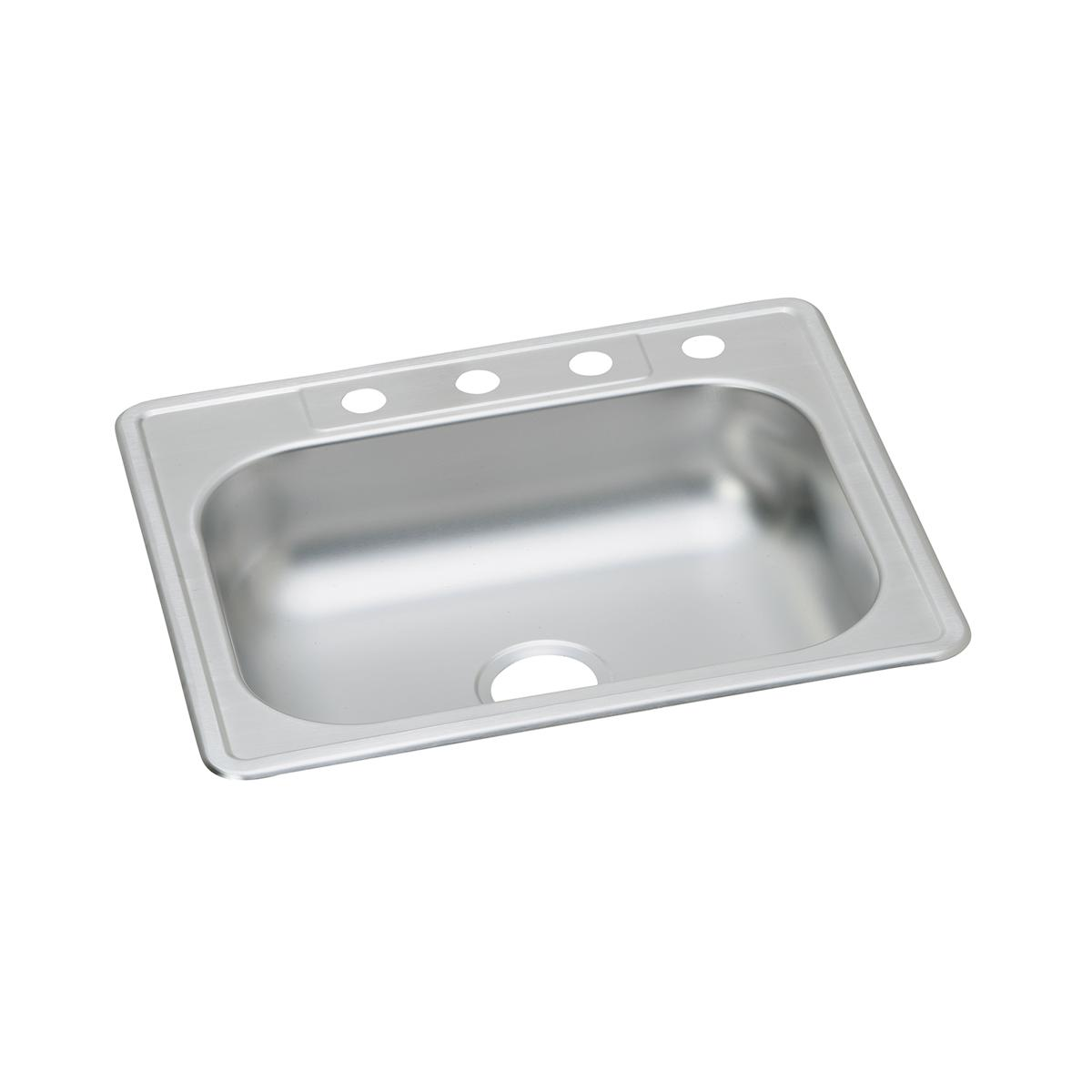 "Dayton Stainless Steel 25"" X 22"" X 6-1/16"", Single Bowl Drop-in Sink"