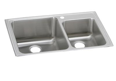 "Image for Elkay Lustertone Classic Stainless Steel 33"" x 22"" x 10"", Offset 60/40 Double Bowl Top Mount Sink from ELKAY"