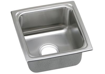 "Image for Elkay Lustertone Stainless Steel 15"" x 15"" x 7-5/8"", Single Bowl Top Mount Bar Sink from ELKAY"