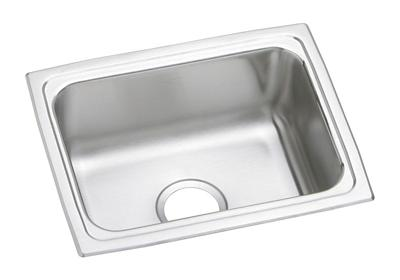 "Image for Elkay Lustertone Stainless Steel 19"" x 15"" x 7-5/8"", Single Bowl Top Mount Sink from ELKAY"