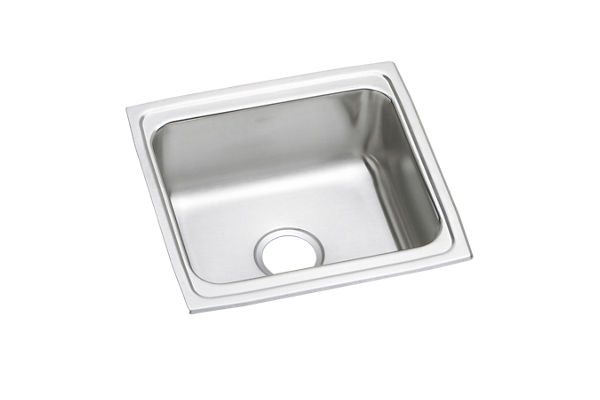"Elkay Lustertone Classic Stainless Steel 19"" x 18"" x 7-5/8"", Single Bowl Drop-in Sink with Perfect Drain"