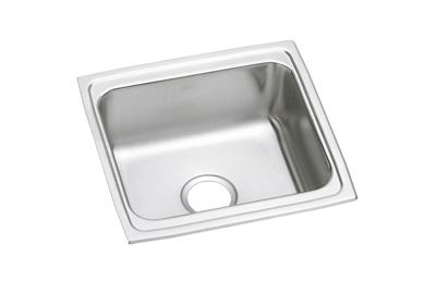 "Image for Elkay Lustertone Stainless Steel 19"" x 18"" x 7-5/8"", Single Bowl Top Mount Sink with Perfect Drain from ELKAY"