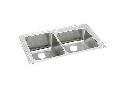 "Image for Elkay Lustertone Classic Stainless Steel 37"" x 22"" x 10"", Offset Double Bowl Top Mount Sink from ELKAY"