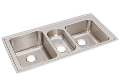 "Image for Elkay Lustertone Classic Stainless Steel 43"" x 22"" x 10"", Triple Bowl Drop-in Sink from ELKAY"