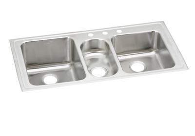 "Image for Elkay Lustertone Stainless Steel 43"" x 22"" x 10"", Triple Bowl Top Mount Sink from ELKAY"