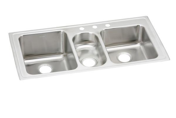 image for elkay lustertone stainless steel 43   x 22   x 10   triple elkay lustertone stainless steel 43 u0026 34  x 22 u0026 34  x 10 u0026 34      rh   elkay com