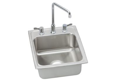 "Image for Elkay Lustertone Stainless Steel 17"" x 22"" x 7-5/8"", Single Bowl Top Mount Bathroom Sink + Faucet Kit from ELKAY"
