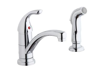 Image for Elkay Single Hole Deck Mount Everyday Kitchen Faucet with Lever Handle and Side Spray Chrome from ELKAY
