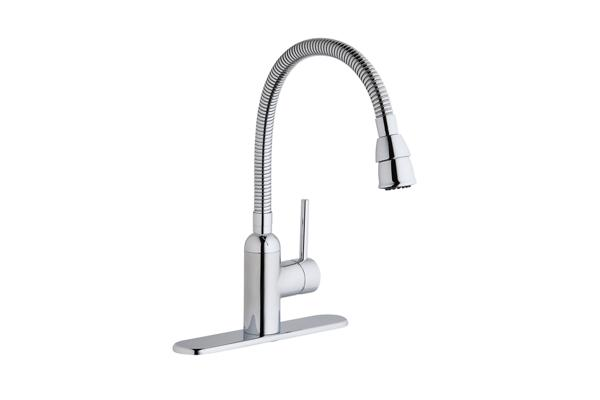 Image For Elkay Pursuit Laundry/Utility Faucet With Flexible Spout Forward  Only Lever Handle Chrome