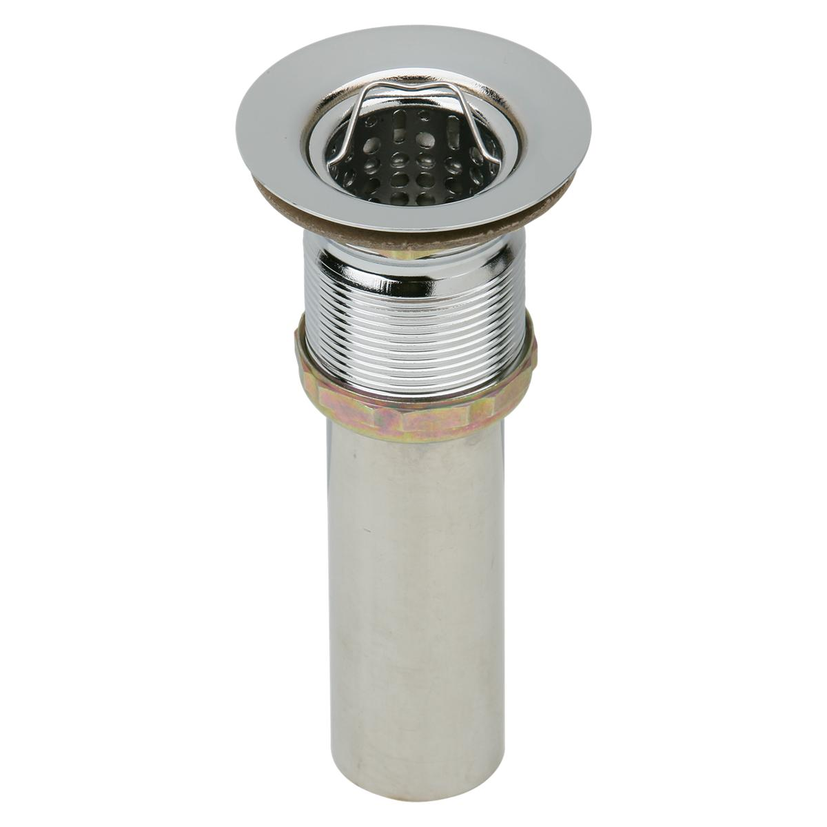"""Elkay Drain Fitting 2"""" Nickel Plated Brass Body With Deep Stainless Steel Strainer Basket 1257428"""