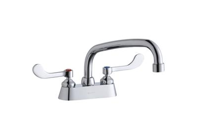 "Image for Elkay 4"" Centerset with Exposed Deck Faucet with 8"" Arc Tube Spout 4"" Wristblade Handles from ELKAY"