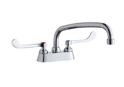 "Image for Elkay 4"" Centerset with Exposed Deck Faucet with 12"" Arc Tube Spout 6"" Wristblade Handles from ELKAY"