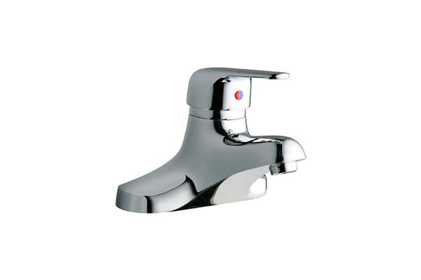 "Elkay 4"" Centerset with Exposed Deck Lavatory Faucet Integral Spout Single Control 4"" Wristblade Handle Chrome"
