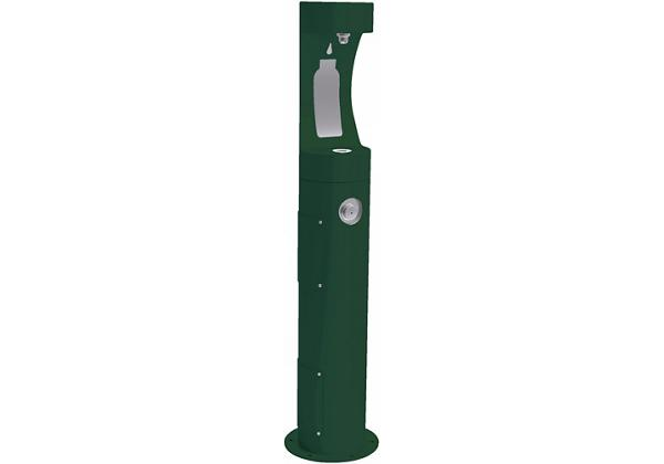 Image for Halsey Taylor Endura II Outdoor HydroBoost Bottle Filling Station, Pedestal, Non-Filtered, Non-refrigerated, Evergreen from Halsey Taylor