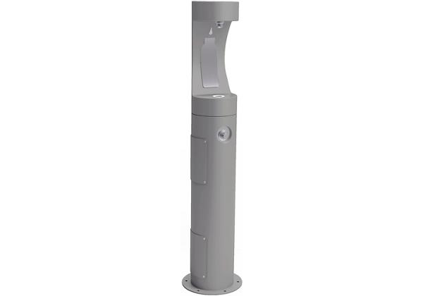 Image for Halsey Taylor Outdoor HydroBoost Bottle Filling Station, Pedestal Non-Filtered Non-Refrigerated Freeze Resistant, Gray from Halsey Taylor