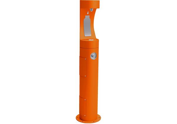 Image for Halsey Taylor Outdoor HydroBoost Bottle Filling Station, Pedestal Non-Filtered Non-Refrigerated Freeze Resistant, Orange from Halsey Taylor