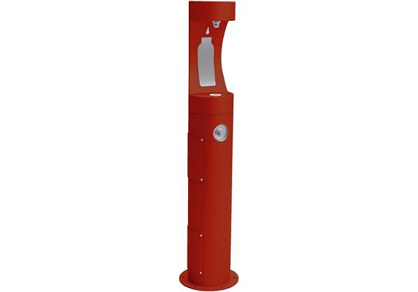 Image for Elkay Outdoor ezH2O Bottle Filling Station Pedestal, Non-Filtered Non-Refrigerated Freeze Resistant Red from Elkay Asia Pacific