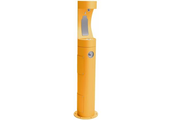 Image for Elkay Outdoor ezH2O Bottle Filling Station Pedestal, Non-Filtered Non-Refrigerated Freeze Resistant Yellow from Elkay Europe and Africa