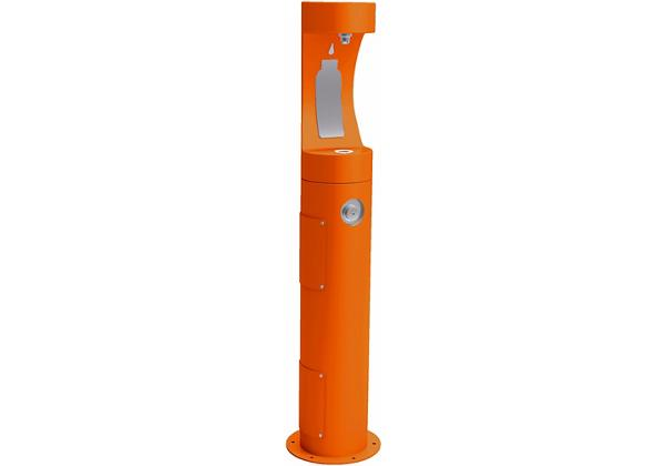 Image for Halsey Taylor Outdoor HydroBoost Bottle Filling Station, Pedestal Non-Filtered Non-Refrigerated, Orange from Halsey Taylor