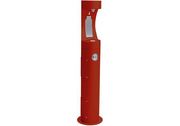 Image for Halsey Taylor Outdoor HydroBoost Bottle Filling Station, Pedestal Non-Filtered Non-Refrigerated, Red from Halsey Taylor