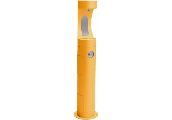 Image for Halsey Taylor Endura II Outdoor HydroBoost Bottle Filling Station, Pedestal, Non-Filtered, Non-refrigerated, Yellow from Halsey Taylor