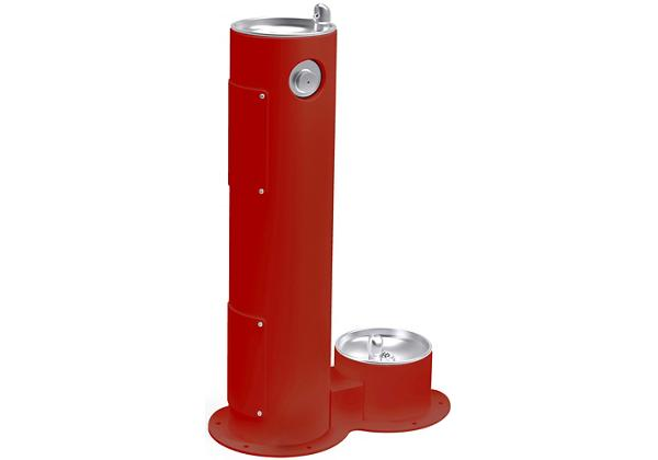 Image for Elkay Outdoor Fountain Pedestal with Pet Station Non-Filtered, Non-Refrigerated Red from Elkay Latin America
