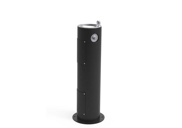 Image for Halsey Taylor EnduraII Tubular Outdoor Fountain, Pedestal, Non-Filtered, Non-Refrigerated, Freeze Resistant, Black from Halsey Taylor