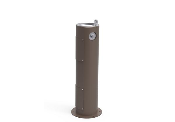 Image for Halsey Taylor EnduraII Tubular Outdoor Fountain, Pedestal, Non-Filtered, Non-Refrigerated, Freeze Resistant, Brown from Halsey Taylor