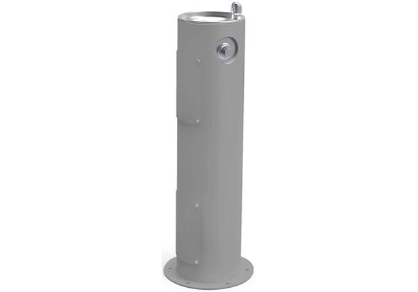 Image for Halsey Taylor Endura II Tubular Outdoor Fountain, Pedestal Non-Filtered Non-Refrigerated Freeze Resistant, Gray from Halsey Taylor