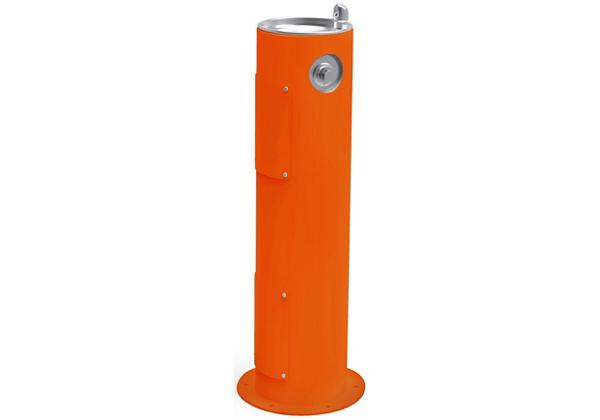 Image for Halsey Taylor EnduraII Tubular Outdoor Fountain, Pedestal, Non-Filtered, Non-Refrigerated, Freeze Resistant, Orange from Halsey Taylor