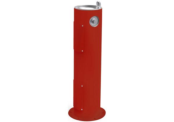 Image for Halsey Taylor Endura II Tubular Outdoor Fountain, Pedestal Non-Filtered Non-Refrigerated Freeze Resistant, Red from Halsey Taylor