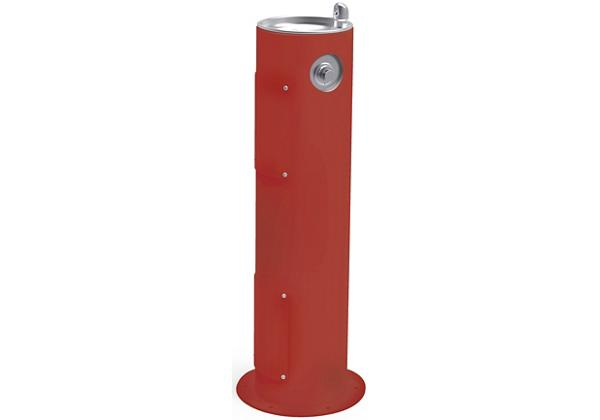 Image for Halsey Taylor EnduraII Tubular Outdoor Fountain, Pedestal, Non-Filtered, Non-Refrigerated, Freeze Resistant, Terracotta from Halsey Taylor