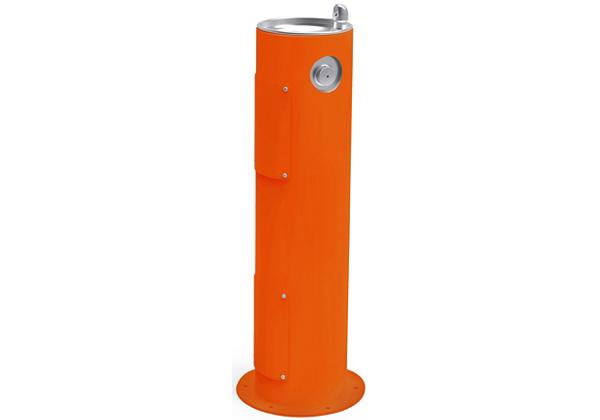 Image for Halsey Taylor Endura II Tubular Outdoor Fountain, Pedestal Non-Filtered Non-Refrigerated, Orange from Halsey Taylor
