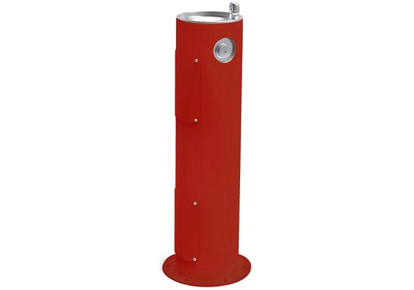 Image for Halsey Taylor EnduraII Tubular Outdoor Fountain, Pedestal, Non-Filtered, Non-Refrigerated, Red from Halsey Taylor