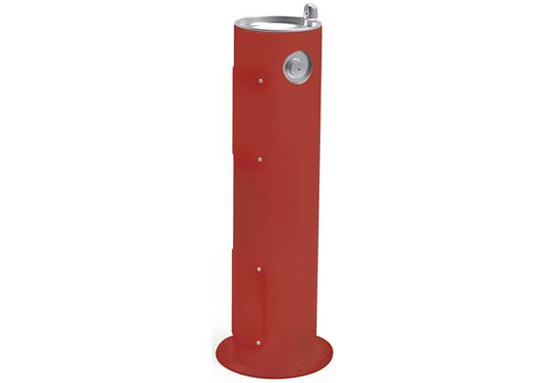 Image for Halsey Taylor EnduraII Tubular Outdoor Fountain, Pedestal, Non-Filtered, Non-Refrigerated, Terracotta from Halsey Taylor