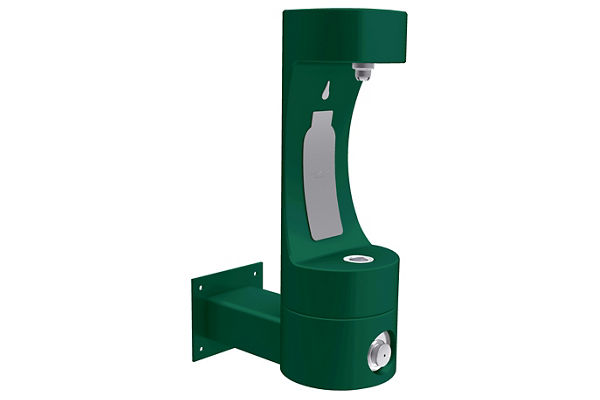 Elkay Outdoor EZH2O Bottle Filling Station Wall Mount, Non-Filtered Non-Refrigerated Evergreen WRAS