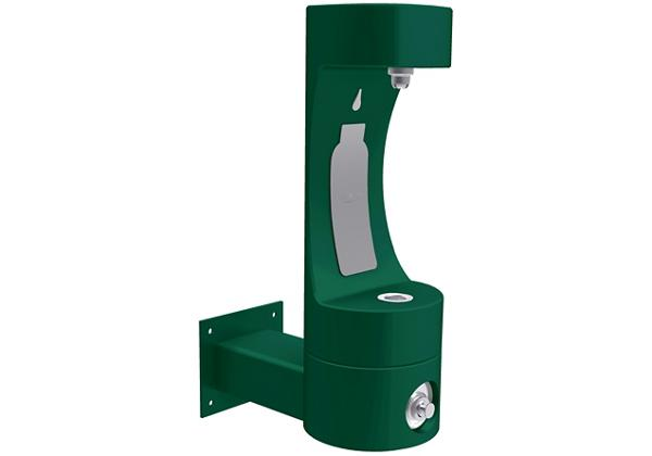 Image for Halsey Taylor Endura II Outdoor HydroBoost Bottle Filling Station, Wall Mount Non-Filtered Non-Refrigerated FR Evergreen from Halsey Taylor