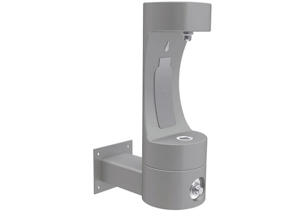 Image for Halsey Taylor Endura II Outdoor HydroBoost Bottle Filling Station, Wall Mount Non-Filtered Non-Refrigerated FR, Gray from Halsey Taylor