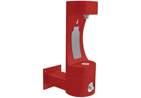 Image for Halsey Taylor Endura II Outdoor HydroBoost Bottle Filling Station, Wall Mount Non-Filtered Non-Refrigerated FR, Red from Halsey Taylor