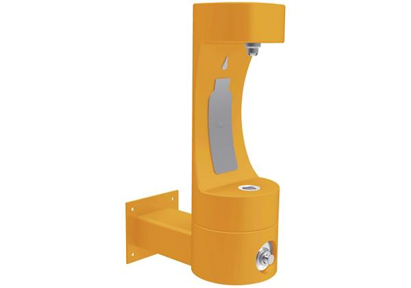 Image for Halsey Taylor Endura II Outdoor HydroBoost Bottle Filling Station, Wall Mount Non-Filtered Non-Refrigerated FR, Yellow from Halsey Taylor
