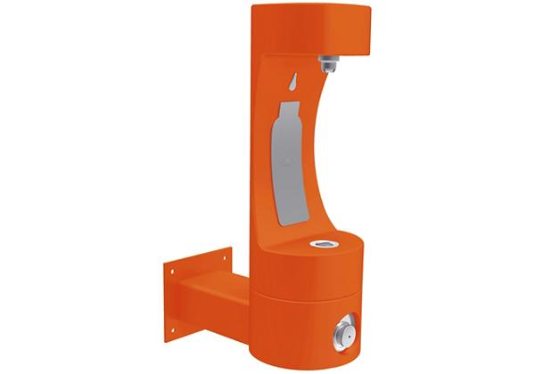 Image for Halsey Taylor Endura II Outdoor HydroBoost Bottle Filling Station, Wall Mount Non-Filtered Non-Refrigerated, Orange from Halsey Taylor