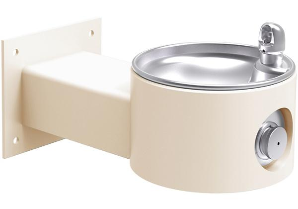 Image for Halsey Taylor EnduraII Tubular Outdoor Fountain, Wall Mount, Non-Filtered, Non-Refrigerated, Beige from Halsey Taylor