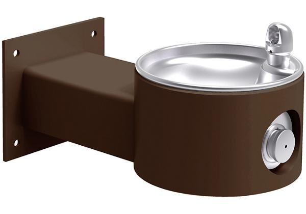 Image for Halsey Taylor EnduraII Tubular Outdoor Fountain, Wall Mount, Non-Filtered, Non-Refrigerated, Brown from Halsey Taylor