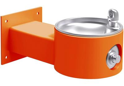 Image for Elkay Outdoor Fountain Wall Mount Non-Filtered, Non-Refrigerated Freeze Resistant Orange from ELKAY