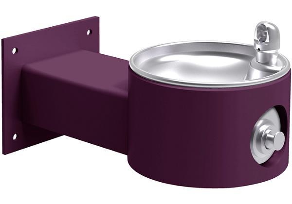Image for Halsey Taylor EnduraII Tubular Outdoor Fountain, Wall Mount, Non-Filtered, Non-Refrigerated, Freeze Resistant, Purple from Halsey Taylor
