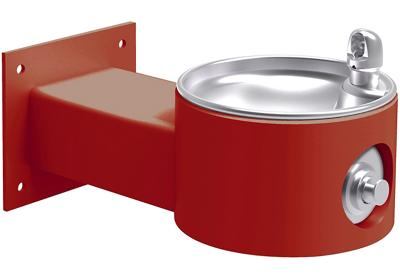 Image for Elkay Outdoor Fountain Wall Mount Non-Filtered, Non-Refrigerated Freeze Resistant Red from ELKAY
