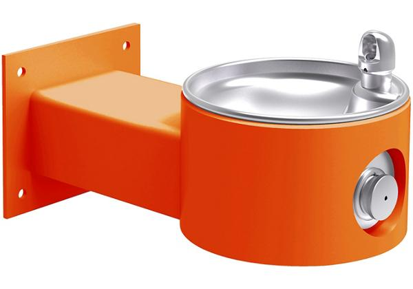 Image for Halsey Taylor Endura II Tubular Outdoor Fountain, Wall Mount Non-Filtered Non-Refrigerated, Orange from Halsey Taylor