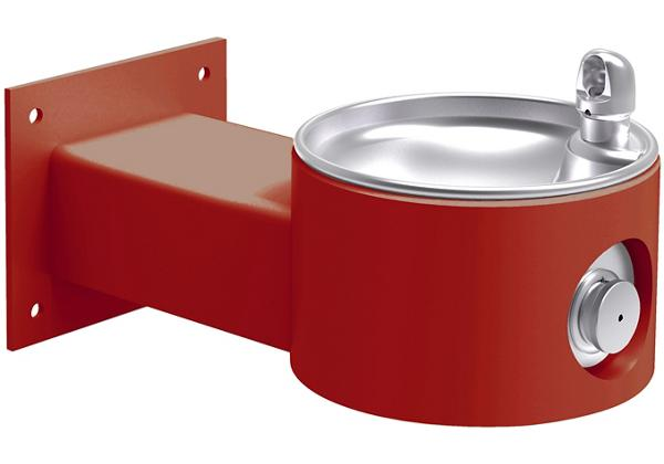 Image for Halsey Taylor Endura II Tubular Outdoor Fountain, Wall Mount Non-Filtered Non-Refrigerated, Red from Halsey Taylor