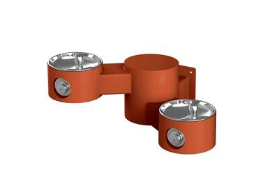 Image for Elkay Outdoor Drinking Fountain Wall Mount, Bi-Level, Non-Filtered Non-Refrigerated, Terracotta from ELKAY