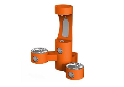 Image for Elkay Outdoor EZH2O Bottle Filling Station Wall Mount, Bi-Level, Non-Filtered Non-Refrigerated, Orange from ELKAY